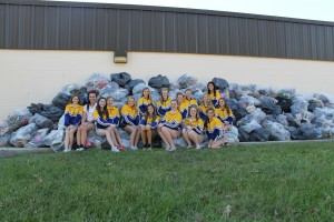 The Live Oak Middle School Eagle Pizazz Dance Team collected 6,900 pairs of shoes.