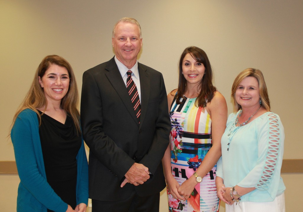 Livingston Parish Teachers of the Year – The Livingston Parish Teacher of the Year winners were honored at a special May 5 ceremony.  Pictured with Superintendent John Watson, from left to right are:  High School Teacher of the Year Rosalind Dalberg, Live Oak High School; Middle School Teacher of the Year Joni Smith, Albany Middle School; and Elementary School Teacher of the Year Michele Link, Albany Lower Elementary.  Smith was also a state semi-finalist for the Louisiana Middle School Teacher of the Year Award.